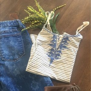 Free people striped tank top! Size Small